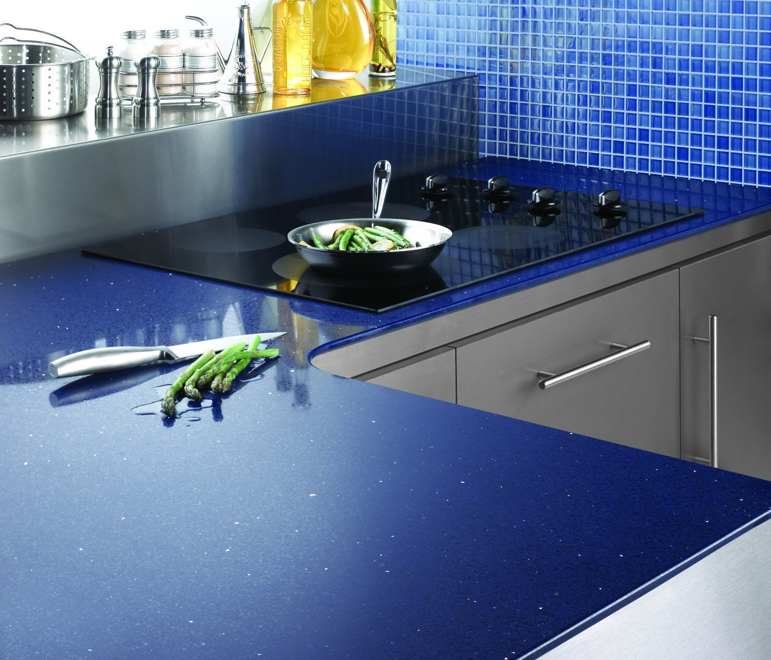 Blue Quartz Kitchen Countertops