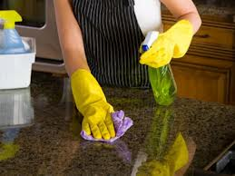 Caring Granite! Kitchen Countertop Cleaning