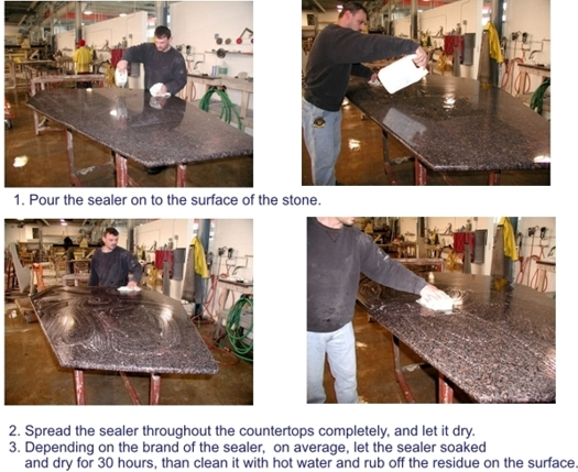 Sealing granite countertop