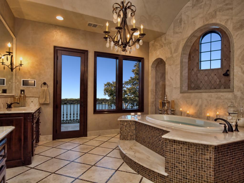 Bathroom lighting and mirror design.