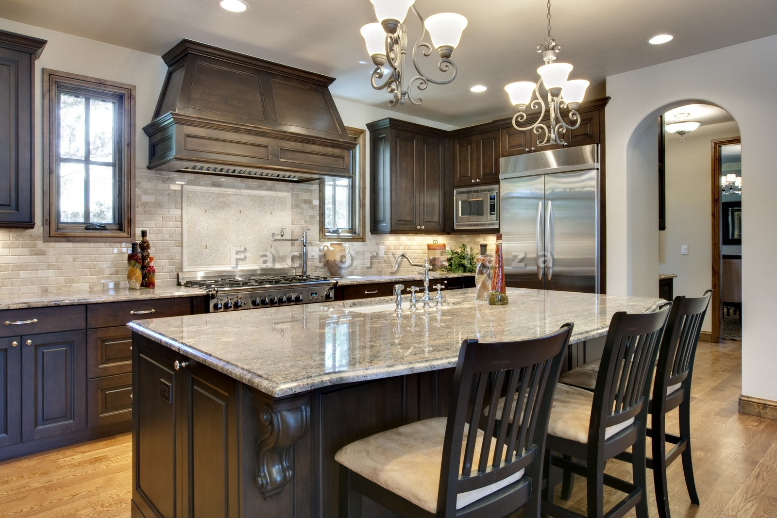 Alluring replacement colonial white granite countertop for White or dark kitchen cabinets