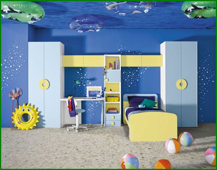 Ocean creatures theme boy bedroom