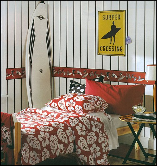 Aloha surfer boy bedroom ideas for decoration