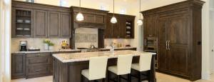 White Ice Granite Dark Cabinets Backpslash Ideas