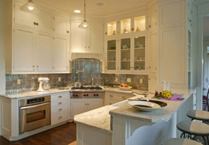 Bianco Romano Granite White Cabinets Backsplash Ideas