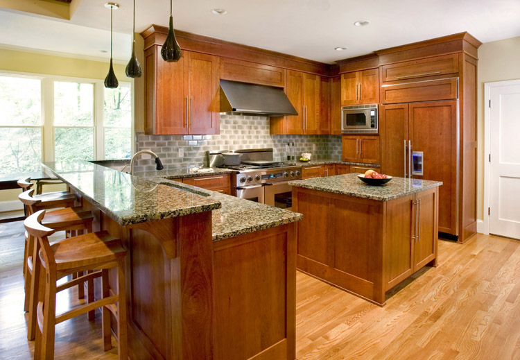 Brown granite dark cabinets backsplash ideas