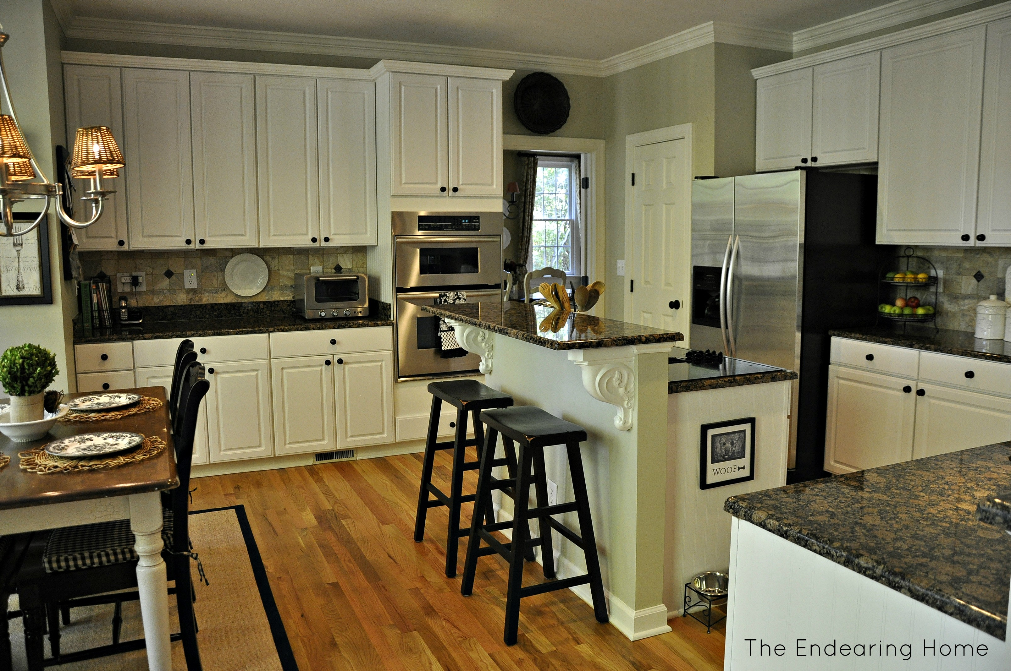 Brown And White Kitchen Ideas Part - 47: Baltic Brown Granite White Cabinets Backsplash Ideas