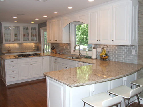 Cambria windermere white cabinets backsplash ideas
