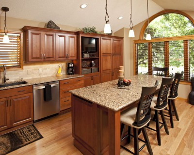 Cambria Canterbury Dark Cabinets Backsplash Ideas