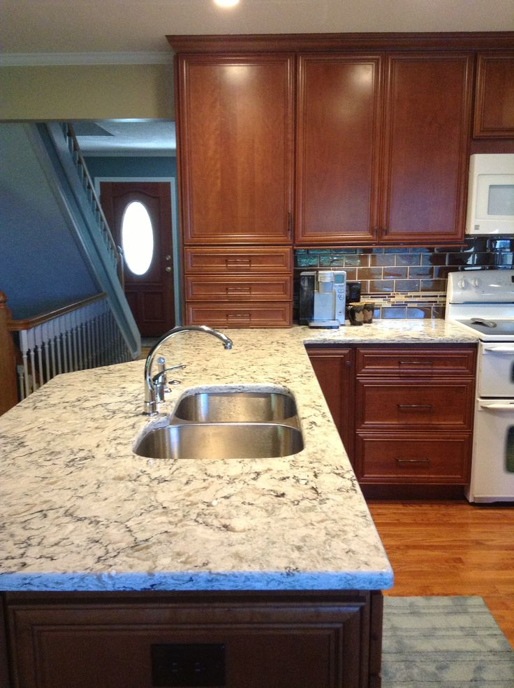 Cambria Praa Sands with Dark Cabinets