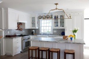 white kitchen gray countertop ideas