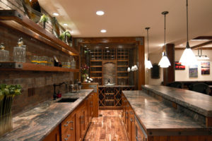 Brick backsplash tile