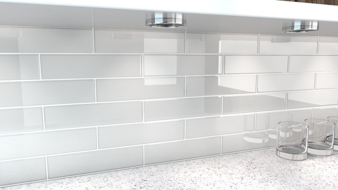off set brick backsplash pattern