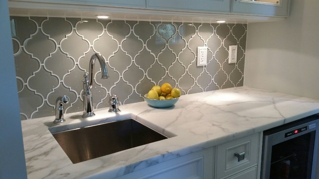 Glass Arabesque Backsplash Tile