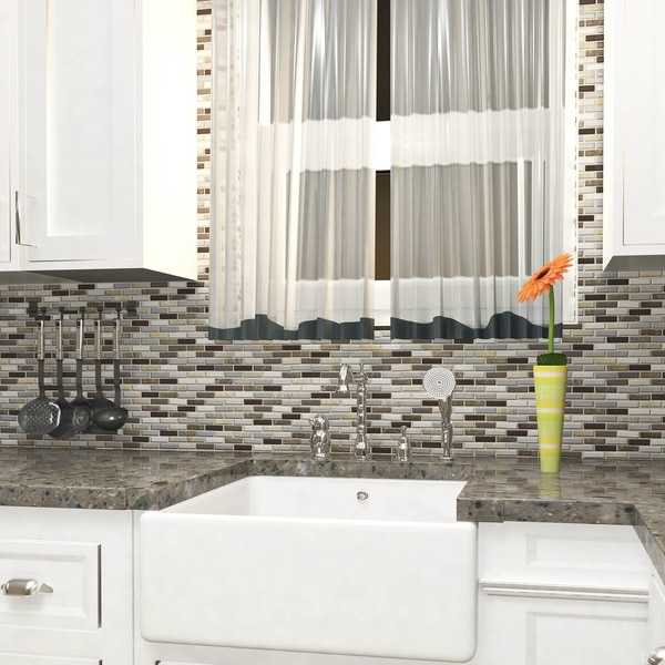 Overstock tile backsplash