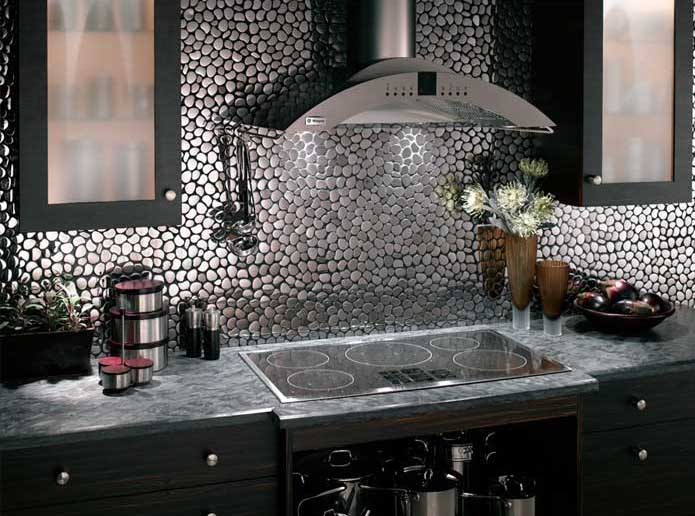 Mosaic tile backsplash Kitchen backsplash ideas stainless steel