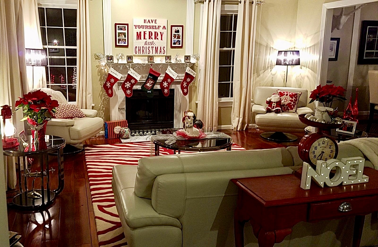 Christmas living room decroation ideas
