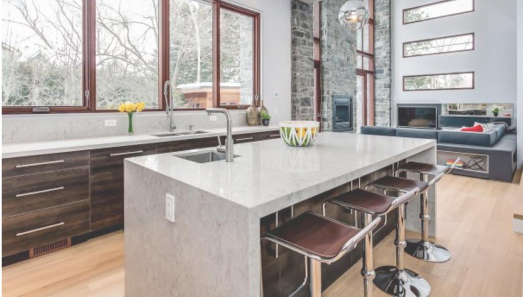 Caesarstone Moorland Fog Quartz Kitchen Countertops