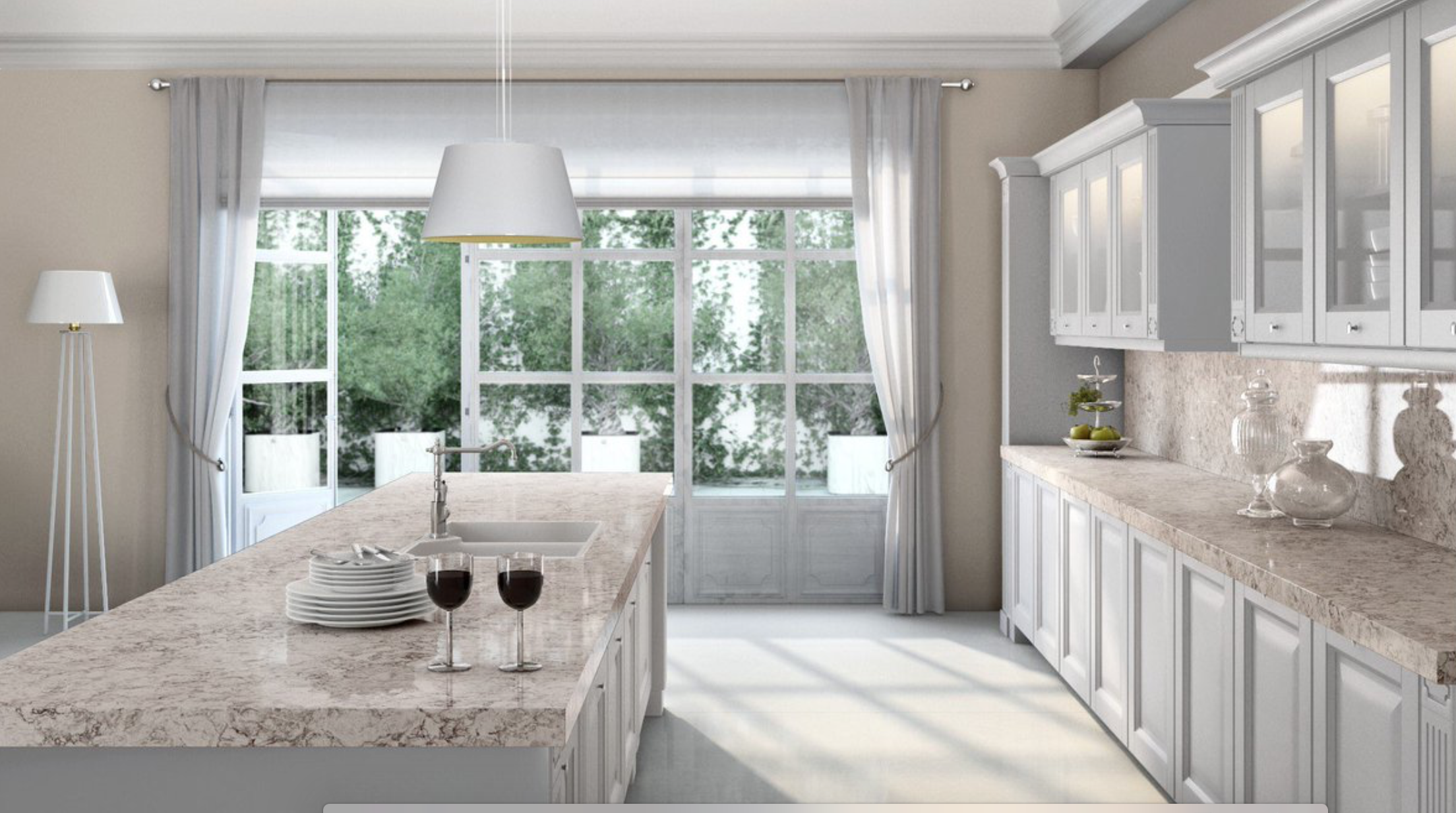 Moorland Fog with White Cabinets